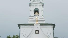 教会在老村庄 影视素材