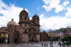 教会在耶稣,库斯科,秘鲁,02-06-2019陪同下 图库摄影