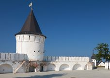 托博尔斯克克里姆林宫的南圆的塔 Tobolsk 俄国 库存图片