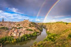 托莱多,西班牙老镇地平线 免版税图库摄影