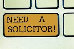 手写文本写需要讨生意者 涉及大多法律问题的概念意思律师业 免版税库存图片