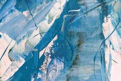 手拉的丙烯酸酯的绘画 抽象派背景 在帆布的丙烯酸酯的绘画 颜色纹理 艺术品的片段 绘画的技巧 库存例证