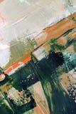 手拉的油画 抽象派背景 在画布的油画 颜色纹理 艺术品的片段 绘画的技巧 库存图片