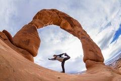 曲拱成拱形精美国家公园 图库摄影