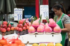 曼谷摊贩 库存照片