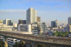 曼谷,泰国摩天大楼的美丽的景色  图库摄影