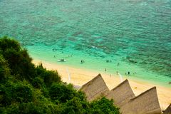 新鲜的海洋海水看法从小山的上面的 免版税图库摄影