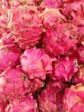 新鲜的龙果子pitaya的关闭 免版税库存图片