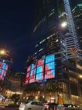 洲际的洛杉矶街市夜 免版税库存照片