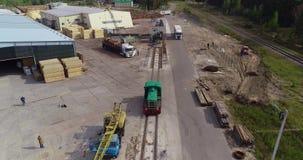 活动乘驾由铁路 森林铁路的活动地点 影视素材