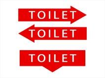 洗手间文字象的指示 向量例证