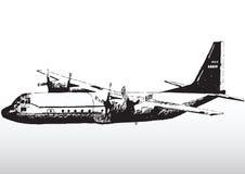 Ærei militari durante il volo Immagine Stock Libera da Diritti