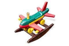 Æreo a reazione di aereo di linea di legno del giocattolo Fotografia Stock Libera da Diritti