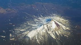 火山的鸟瞰图,安地斯,智利 免版税库存照片