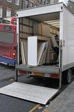 移动的卡车推力 免版税库存图片