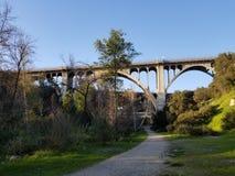 科罗拉多街桥梁在帕萨迪纳 库存图片