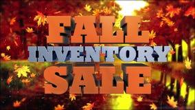 秋天存货销售-营销和广告 股票视频