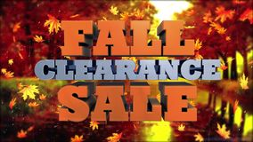 秋天清仓拍卖-增进的广告和的营销 股票录像