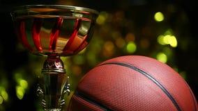 篮球球金杯子hd英尺长度 股票视频