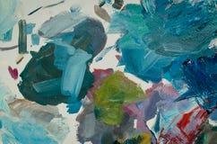 纹理混杂的油漆用不同的颜色 向量例证