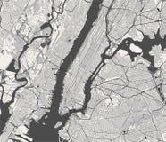 纽约的地图, NY,美国 向量例证