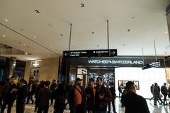 纽约,NY - 2019年3月15日:也有有许多奢侈品商店里面的一个新的购物中心 许多高级商店 免版税图库摄影