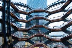 纽约,NY - 2019年3月15日:船大厦在哈德森围场曼哈顿打开了 免版税图库摄影