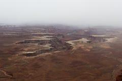 绿河乐队俯视,峡谷地国家公园 库存照片