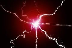 绿色能量Electricy等离子力量哔拍作响的融合 库存照片