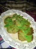 绿色TMNT糖屑曲奇饼 库存照片