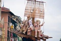 维亚雷焦的狂欢节,2019年编辑 库存图片