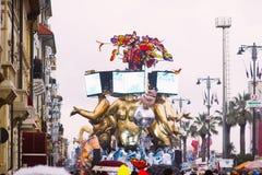 维亚雷焦的狂欢节,2019年编辑 免版税库存图片