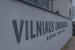 维尔纽斯大学在考纳斯 库存图片