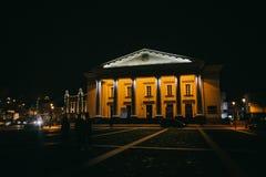 维尔纽斯,立陶宛:城镇厅,立陶宛Vilniaus 图库摄影