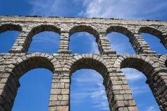 罗马渡槽,塞戈维亚,卡斯蒂利亚y利昂,西班牙 免版税库存图片
