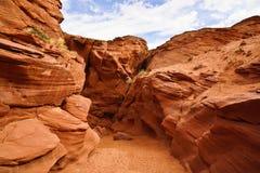羚羊峡谷入口  库存照片
