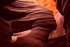 羚羊峡谷降低 arizonian 风形成的著名夫人 库存照片