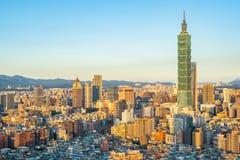 美丽的建筑学大厦台北市 库存照片