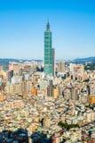 美丽的建筑学大厦台北市 免版税库存图片