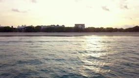 美丽的海滩,旅馆,巴厘岛,库塔鸟瞰图  热带海岛,印度尼西亚 股票录像
