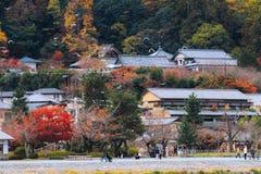 美丽的Arashiyama老镇在京都日本 图库摄影