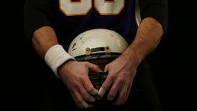 美式足球球员盔甲  股票录像