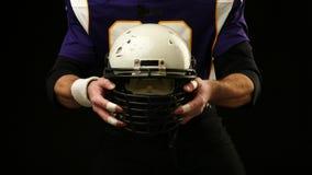 美式足球球员盔甲  影视素材