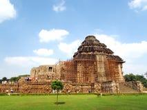 石头做的遗产寺庙,印度的石艺术 图库摄影