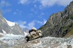石金字塔在Svaneti,乔治亚 免版税库存图片