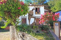 矿工的雕象,圣・萨巴斯蒂安,墨西哥 图库摄影