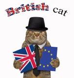 猫拿着旗子3的两个片断 免版税图库摄影