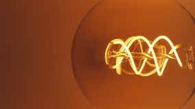 真正爱迪生电灯泡闪烁 葡萄酒细丝爱迪生电灯泡 关闭 股票视频