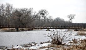 看西部DuPage河的东方分支 库存照片