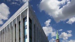 状态国会克里姆林宫PalaceÂ克里姆林宫宫殿反对天空的 在克里姆林宫里面,俄罗斯天 股票录像